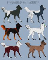March 2016 Wolf Adopts by HevonenStudios