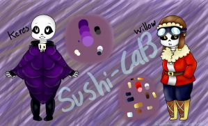 BittyBones Au my Oc -Keres and Willow by sushi-cat3