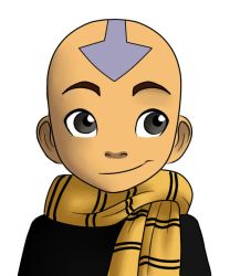 Hufflepuff Aang by QwikSylverShadows