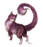 another kitty colored by Liedeke