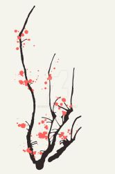 sakura . interior design print by guava