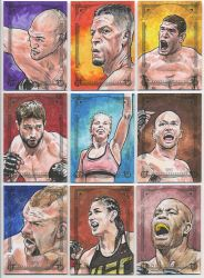 2018 UFC Canvas Collection by tdastick