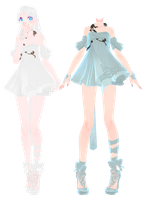 [MMD] Dress DL~ by UnluckyCandyFox