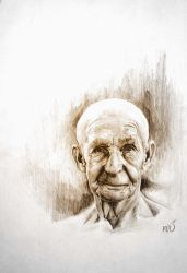 Oldman sketch by 3yen
