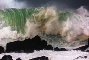 An Uneasy Wave by cprmay