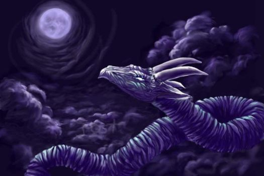 Mooneating wyrm by Roses-red
