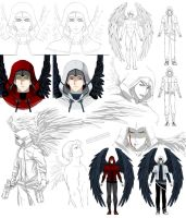 Winged guy design, Tertian (commission) by Precia-T
