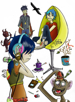 gorillaz by Basty007