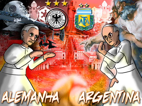 Final: Germany and Argentina by mushisan
