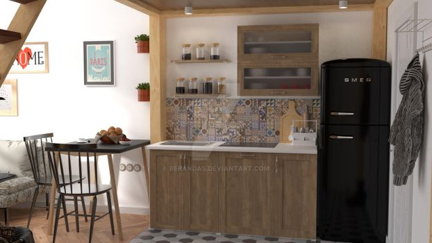 Kitchen Interior Design Preview by Berandas