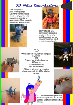 3D Pen Print Commissions ARE OPEN!! by SuperTailsHero