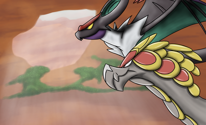 Noivern and Kommo-o - Ready to battle by TheGreatVescryll