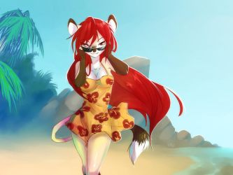 At the Beach by Edheloth