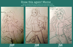 Draw it again meme by BlakkaStar