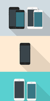 Freebie - Flat Style iPhone 6 Mockups by GraphBerry