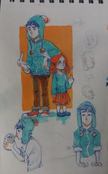 sketchbook page 3 by IvaTheHuman