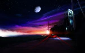 Sunset Road. by ShangyneX