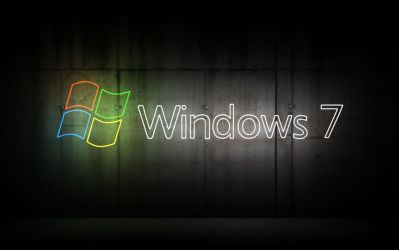Windows 7 Neon Wallpaper by Peaches491
