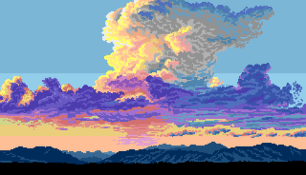 Clouds practice #2 by Retronator