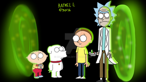 Brian and Stewie Meets Rick and Morty by K9X-Toons-n-Stuff