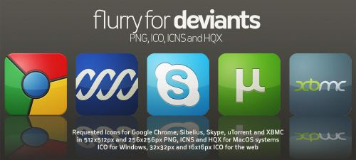 Flurry Icons for Deviants by HeskinRadiophonic