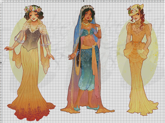 WIP-Nouveau Princess Patterns (Hannah-Alexander)5 by pinkythepink