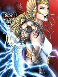 He-man and sister She-ra by shawnmp