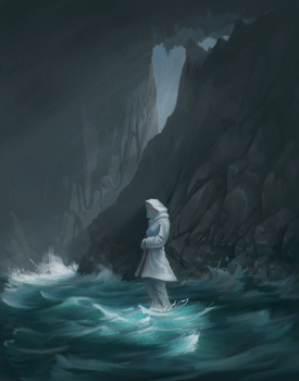 Ghost in a Cave by Mandilor