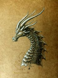 Brown Paper Dragon by chaosia