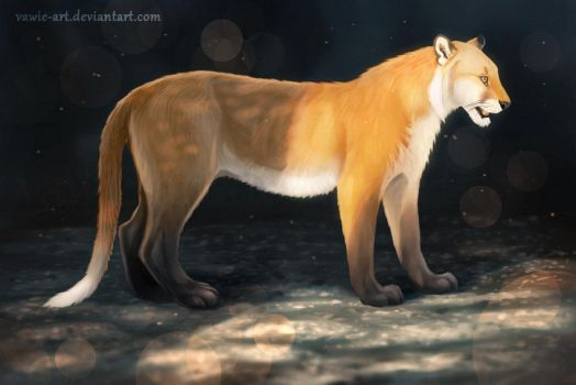 Red Fox colored Tiger by Vawie-Art
