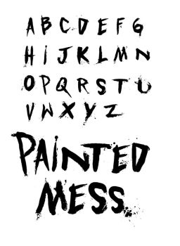 Painted Mess fonts by DavidPaul1970