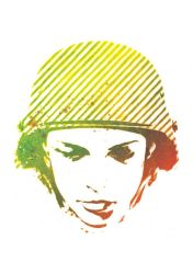 Soldier Girl Stencil by hiddenmoves