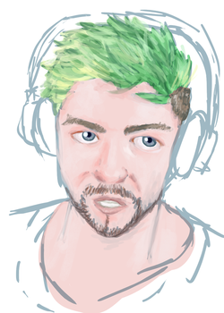 Paint practice with jacksepticeye by forgotten-light