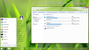 AeroVG Ei8ht Theme for Windows 8 by Vishal-Gupta