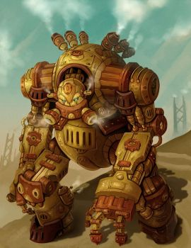 Steampunk Robot Warrior - Groxx by arm01