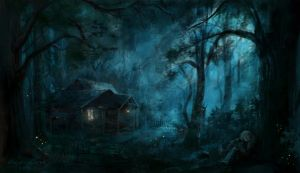 House in the forest by Marikunochka