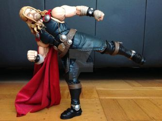 Thor's Back Kick by tonycreatah
