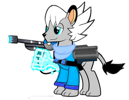MLP: FrostBite the Blue Team Pyro by FrostTheHobidon