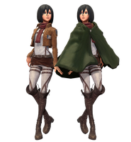 Mikasa Updated dl by MikuMikuKnight