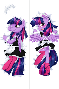 Twilight as Maid (Dakimakura) [Commission] by Habijob