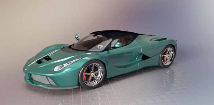 LaFerrari Green by TheRedCrown
