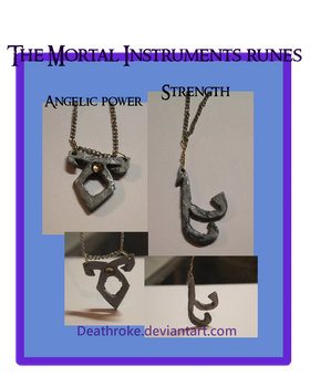 The Mortal Instruments runes by Deathroke