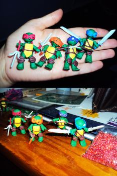 All Four Ninja Turtles A Commission for Jesse by CoolArt999