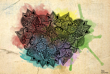 Colorful Henna by pen-it-black