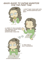 Quick Guide To Eating Burritos for the First Time by diabledoux
