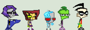 Invader Zim Teen Titans Sprites by HonorAmongScars