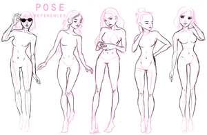 Pose references + GUIDE by Avvyraptor