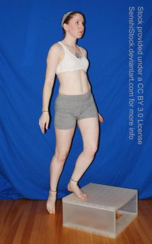 Pose Reference Woman Stepping Up by SenshiStock