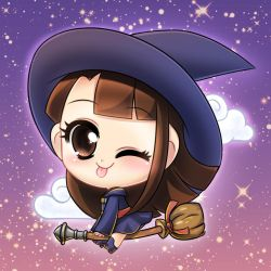 Akko from Little Witch Academia by framboosi