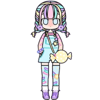Pastel Candy Girl by Rosemoji